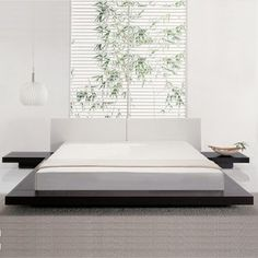 Modern White Bedroom details about rishon - king size modern european style white
