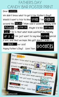 Father's Day another candy bar poem