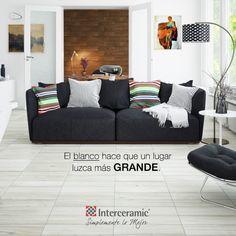 El color blanco de las #MaderasCerámicas refleja más la luz, lo que crea una sensación de espacio. Ideal para tu primer departamento.