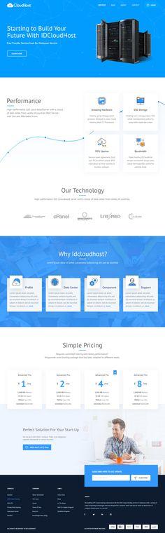 Web Hosting Provider – Landing page by Hadiguna MS
