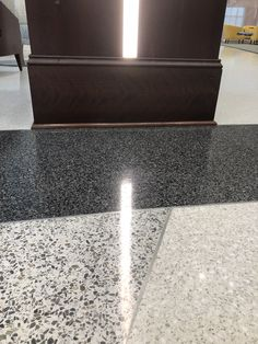 Epoxy terrazzo floor details at HPU School of Health Sciences, installed by Doyle Dickerson Terrazzo