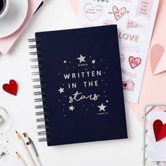 Stars Notebook Or Memory Book With Stickers