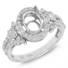 0.80ct 18k White Gold Diamond Semi-mount Ring-Allurez.com