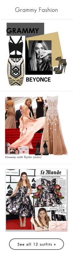 """Grammy Fashion"" by lovefashionxxxxxx ❤ liked on Polyvore featuring Oscar de la Renta, women's clothing, women, female, woman, misses, juniors, GALA, Kate Spade and Zuhair Murad"