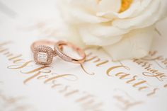 rose gold rings // photo by Katelyn James // http://ruffledblog.com/rose-gold-wedding-ideas