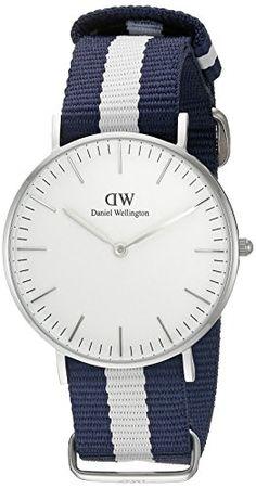 Daniel Wellington Damen-Armbanduhr Glasgow Analog Quarz Nylon 0602DW - http://uhr.haus/daniel-wellington/daniel-wellington-damen-armbanduhr-glasgow