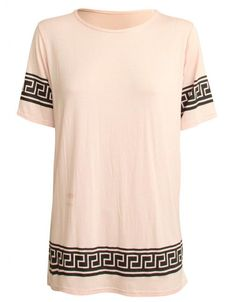 Nude Pink Aztec Celebrity Inspired By Vicky Pattison T-Shirt