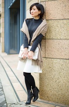 All Fashion, Winter Fashion, Fashion Outfits, Womens Fashion, Tokyo Street Style, Tights Outfit, Winter Outfits Women, Japanese Beauty, Asian Woman