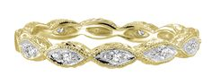 Yellow Gold Art Deco Diamond Band .10ct tw. Diamond Bands, Diamond Wedding Bands, Wedding Rings, Art Deco Diamond, Gold Art, Heart Ring, Diamond Earrings, White Gold, Rose Gold