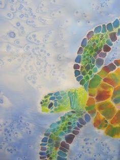 Sea Turtle Silk Scarves