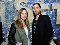 """Producer Emma Ludbrook and director Jared Leto attend the Samsung """"Artifact"""" after party at SXSW on March 13, 2013 in Austin, Texas."""