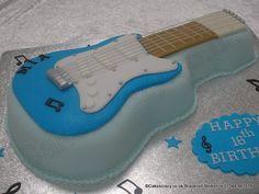 Small Guitar Cake. Small electric guitar shaped cake