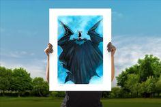 The Batman: Midnight in Gotham Fine Art Lithograph by Alex Ross | Sideshow Fine Art Prints All Batmans, Dc Comics Collection, Alex Ross, Yellow Submarine, Batman Art, Sideshow Collectibles, Comic Book Artists, Captain Marvel, Night Skies