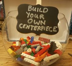 Build your own lego wedding centerpiece