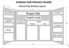 How to lay out a Science Fair Project Board
