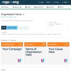Charities will be able collect donations via dot NGO domain pages: http://www.civilsociety.co.uk/it/news/content/17676/charities_will_be_able_collect_donations_via_dot_ngo_domain_pages#.U6GMksNpMdo.twitter