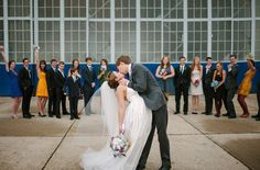 Whimsical+Wedding+in+an+Airplane+Hanger:+Alex+++Keith
