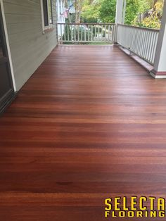 Rubio Monocoat Pure Exterior on wide plank Mahogany wood floor