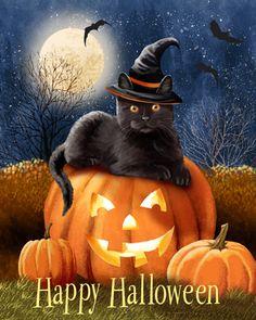 """Happy Halloween Kitty"" by Thomas Wood"