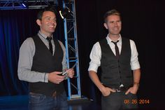 Picture from the Byrne and Kelly show in Des Moines, IA August 26, 2014. Ryan Kelly and Neil Byrne