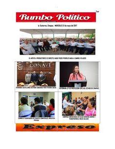 Issuu miecoles 31 de mayo issuu rumbo politico  RUMBO POLITICO NOTICIAS Y COLUMNA GENERADAS EN CHIAPAS MEXICO