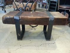 Salvaged And Repurposed Industrial Beam by StateStreetSalvage, $875.00