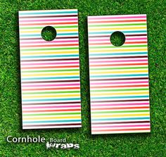 cornhole boards designs | ... Striped Skin-set for a pair of Cornhole Boards | Design Skinz, INC