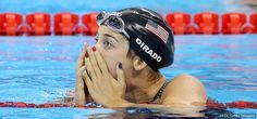 Maya DiRado, Swimming  -     Maya Dirado celebrates winning silver in the final of the women's 400-meter individual medley at the Rio 2016 Olympic Games at the Olympic Aquatics Stadium on Aug. 6, 2016 in Rio de Janeiro.