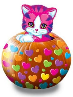 Happy Halloween kitty by Lisa Frank Colorful Pictures, Cute Pictures, Hello Kitty Drawing, Lisa Frank Stickers, 90s Childhood, Childhood Memories, 90s Cartoons, Sketch Painting, Jolie Photo