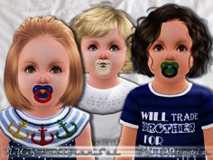 A cute NUK pacifier to calm down your Sim's Baby  Found in TSR Category 'Sims 3 Earrings for both Ears'
