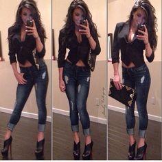 Jeans,botines