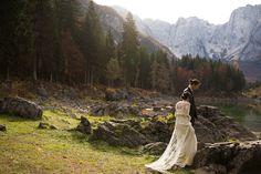 Wedding in Italy on a Dolomites Lake. Italy Wedding, Wedding Photography, Elegant, Wedding Dresses, Classy, Bride Dresses, Bridal Gowns, Weeding Dresses, Wedding Dressses