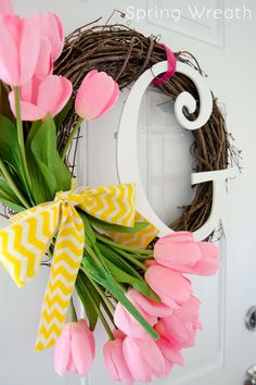 Craftaholics Anonymous® | Monogram Spring Wreath