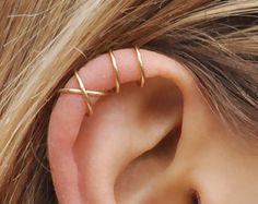 Set of 2 Ear Cuffs Ear Cuff Double Ear Cuff and by Benittamoko