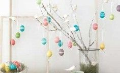 Faça também uma árvore de ovo de Páscoa para a sua casa (Foto: lovethecountry.com)