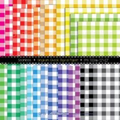Gingham check papersSeamlessPlaid BuffaloTileablestraight   Etsy Paper Background, Background Patterns, App Design, Your Design, Black And White Doodle, Simple Collage, Gingham Check, Embroidery Files, Collage Sheet