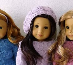 Ravelry: Project Gallery for AMERICAN GIRL DOLL BERET pattern by Jacqueline Gibb. FREE PATTERN