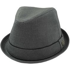 Peter Grimm Fedora Hat - Grey L/XL ($29) ❤ liked on Polyvore featuring men's fashion, men's accessories, men's hats, grey, mens fitted hats and mens fedora hats