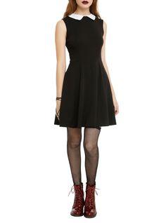 Black & White Collar Dress | Hot Topic