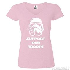 Women's L Pale Pink Support Our Troops cotton v-neck shirt by PumaBot  Price : $19.00 http://www.pumabot.com/Womens-Support-Troops-cotton-PumaBot/dp/B00L9DMZLY @ www.pumabot.com