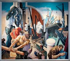 Museums like the Met and the Whitney are filled with examples of pieces depicting labor.