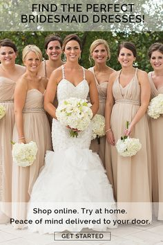 Brideside makes selecting and buying a bridesmaid dress easy. Get fabric swatches and sample bridesmaids dresses sent to your home. Neutral Bridesmaid Dresses, Bridesmaids, Wedding Dresses, Wedding Preparation, Peace, Wedding Ideas, Sign, Board, Inspiration