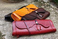 Handmade vintage leather small clutch crossbody Shoulder Bag for girl women