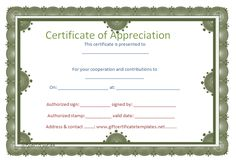 Free certificate of appreciation sample blank certificate of circle border certificate of appreciation template yelopaper Images