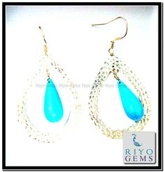 Silver Beads Earring From Riyo Gems www.riyogems.com