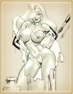 Nude sketch Jessica rabbit