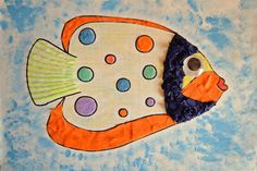 Exotic Fish Craft for Kids | The kids can craft with fun textures with this easy undersea fish craft!