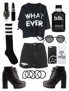 """""""Whatever.."""" by sxrxxrxs ❤ liked on Polyvore featuring Charlotte Russe, Topshop, Forever 21, Acne Studios, LAUREN MOSHI, Marc by Marc Jacobs and Wet Seal"""