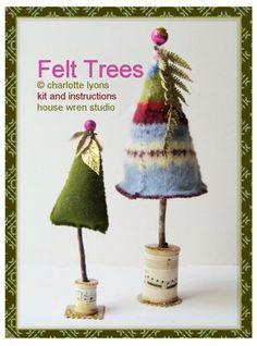 sweater felt trees