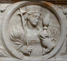 Sepulcro de Gonzalo Díez de Lerma en la catedral de Burgos. Medallón de la Fe.